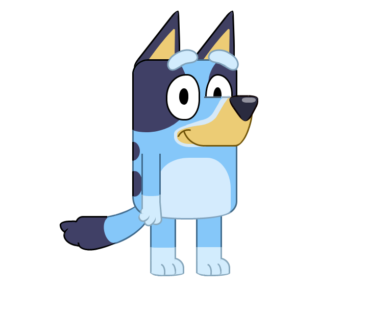 Bluey cartoon dog